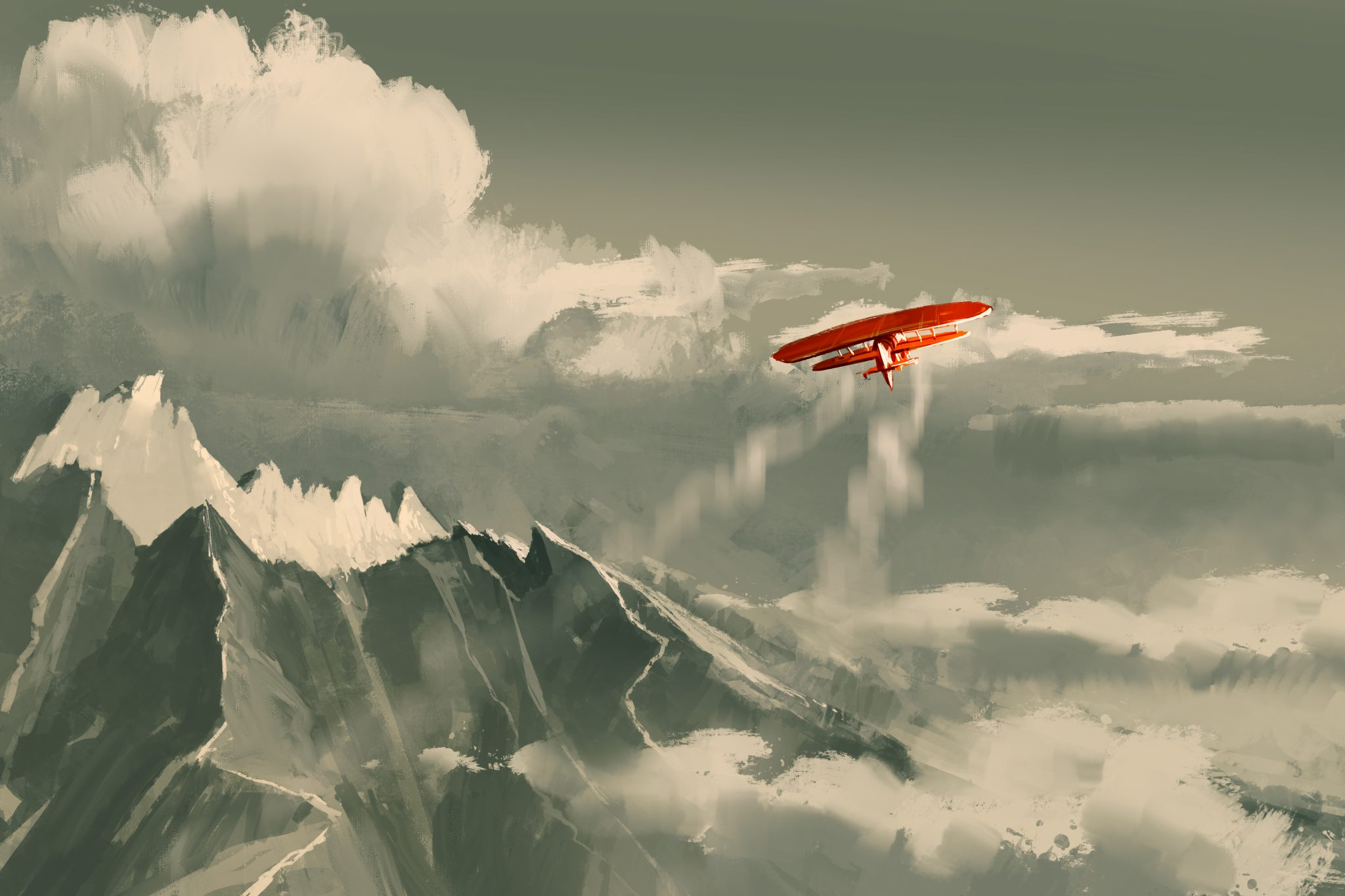 Aereo vola nel cielo