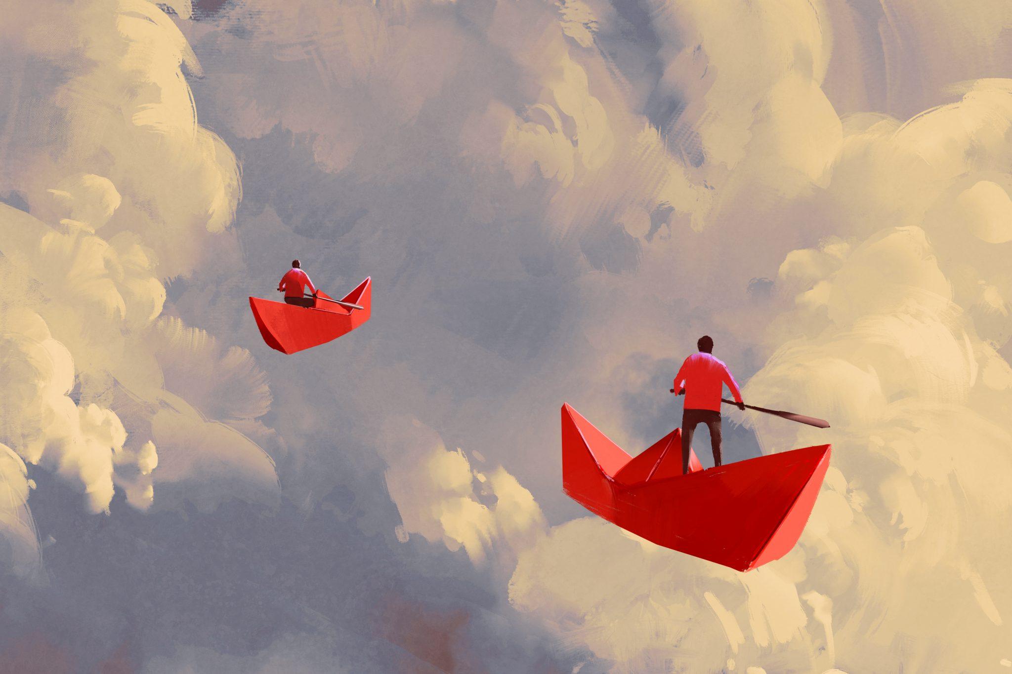 Barche volano nel cielo